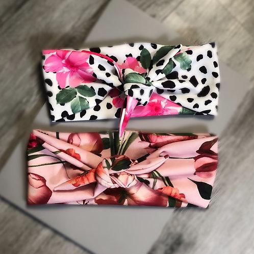 Floral Print Tie Headbands