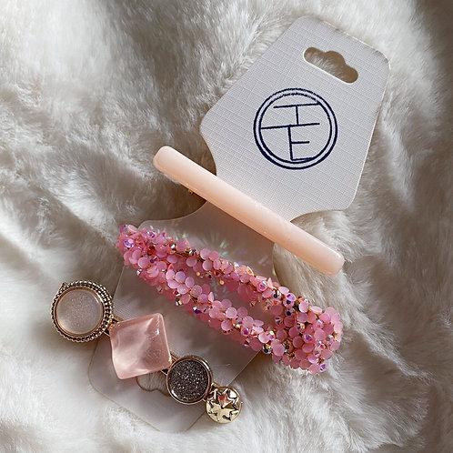 Pink Sparkle Clip Set