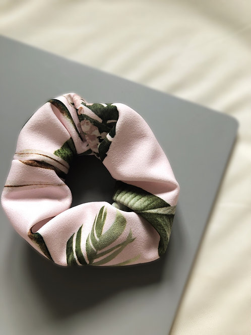 Pink Tropical Scrunchie