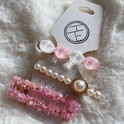 Pearl Sparkle Clip Set