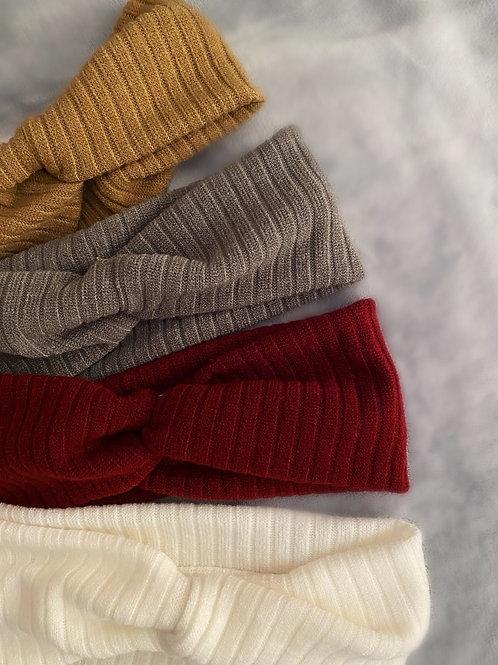 Ribbed Knit Twist Knot Headband