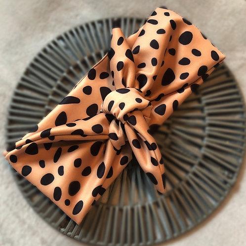 Dalmatian Print Tie Headband