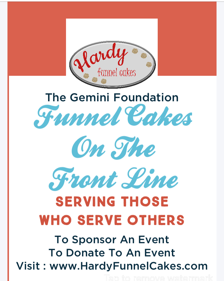 funnel cakes on the frontline flyer