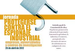 Portada Jornada Espionaje Industrial