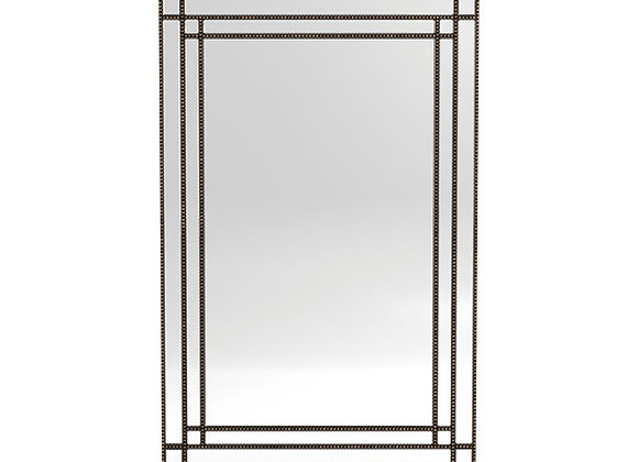 Beaded Trim Mirror Silver