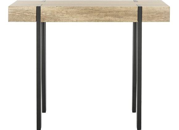 Alyssa Rectangular Rustic Midcentury Wood Top Console Table