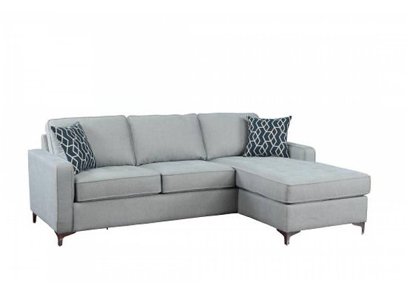 Sectional in Baby Blue