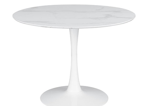 Arkell 40-Inch Round Pedestal Dining Table in White