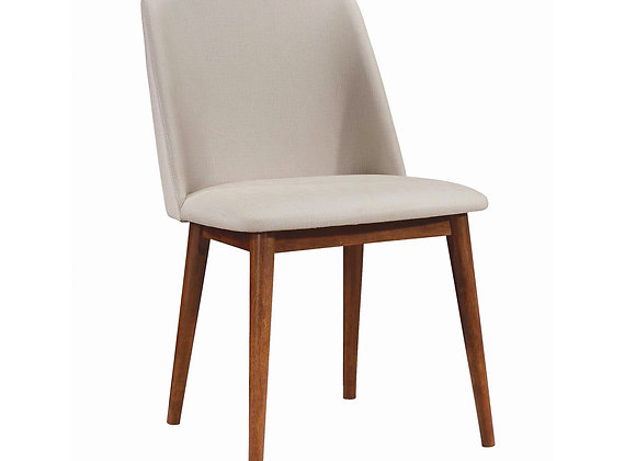 Malone Upholstered Dining Chairs Tan And Chestnut