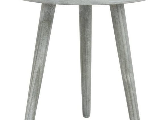 Orion Round Accent Table in Grey