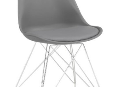 Athena Upholstered Side Chairs Grey