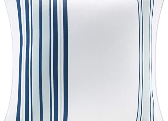Newport Printed Stripe 3M Scotchgard Outdoor Square Pillow in Navy