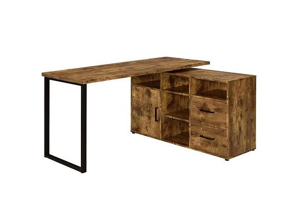 L-Shape desk in Antique Nutmeg