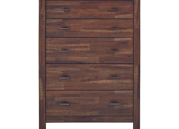 Biloxi 5-Drawer Chest in Varied Coffee