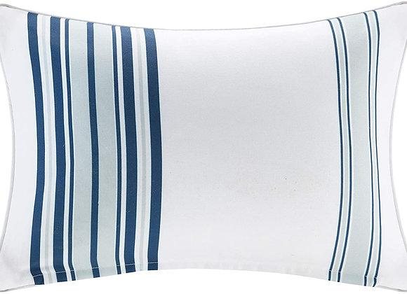Newport Printed Stripe 3M Scotchgard Outdoor Oblong Pillow in Blue