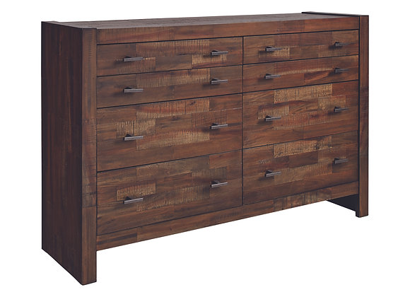 Biloxi 8-Drawer Dresser in Varied Coffee
