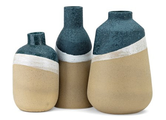 Seaside Decorative Bottles - Set of 3