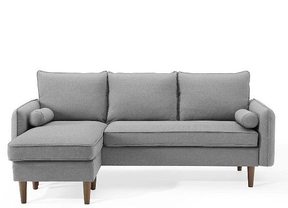 Revive Upholstered Right or Left Sectional Sofa in Light Gray