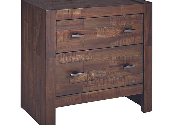 Biloxi 2-Drawer Nightstand in Varied Coffee