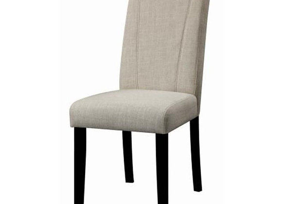 Armless Side Chair in Beige