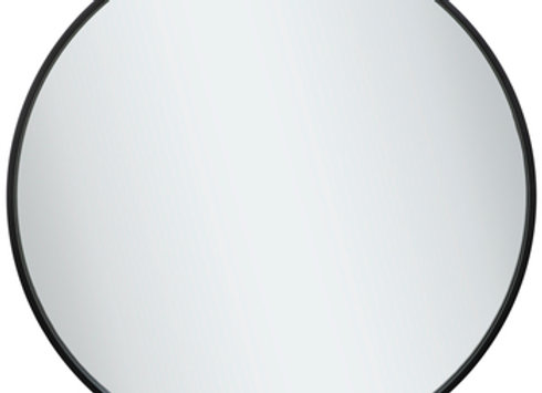 Black Metal Round Wall Mirror