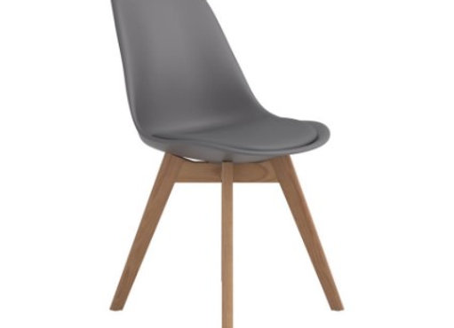 Breckenridge Upholstered Side Chair in Grey