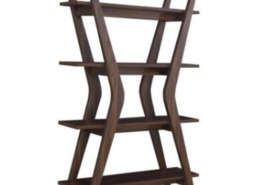 4-Tier Bookcase in Dark Walnut