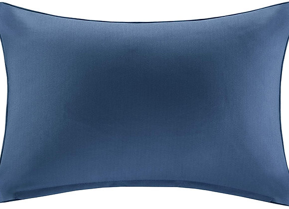 Pacifica Solid 3M Scotchgard Outdoor Oblong Pillow in Navy