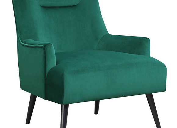 Upholstered Accent Chair in Green And Black