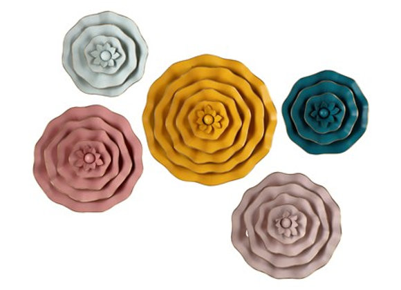 Finley Dimensional Flower Wall Decor - Set of 5