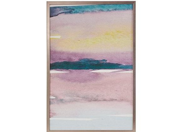 Cotton Candy Sky Framed Gel Coated Canvas