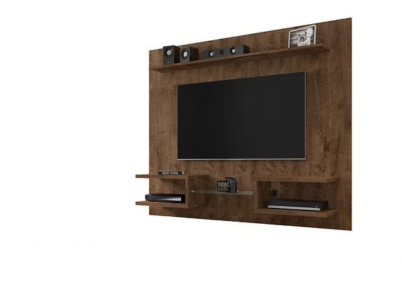 """Plaza 64.25"""" Floating Entertainment Center in Rustic Brown"""
