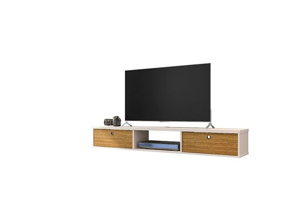 Liberty Floating Entertainment Centre in Off White and Cinnamon
