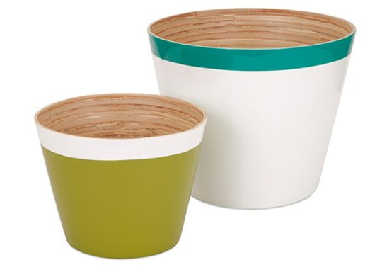 Jamye Bamboo Cachepots - Set of 2
