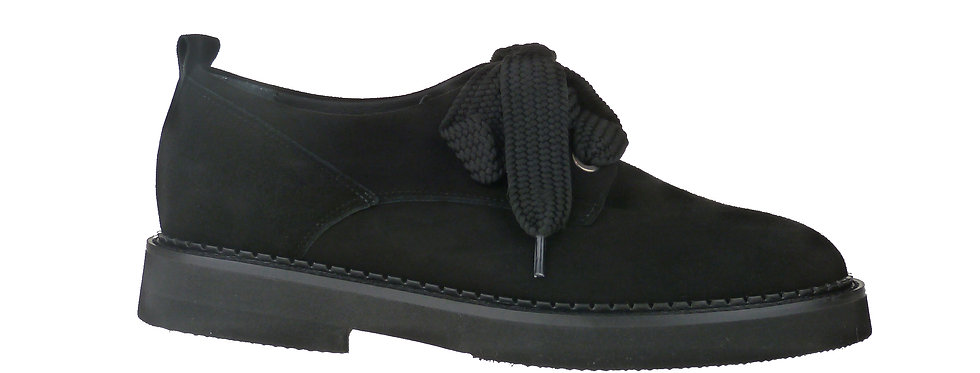 Joy black suede
