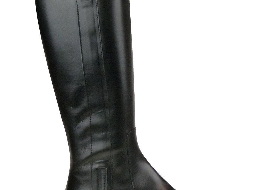 Jesse black leather