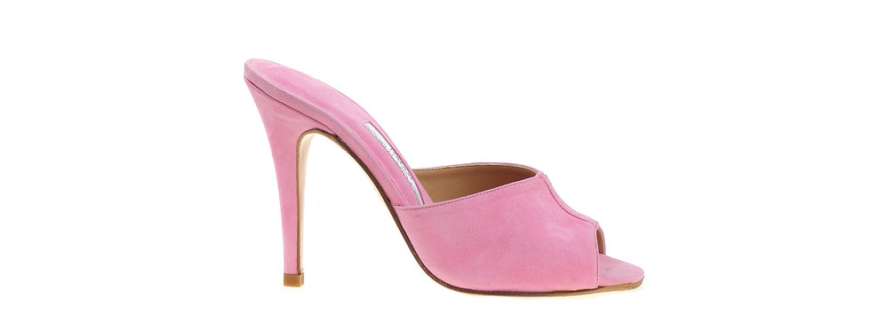 Candy pink suede