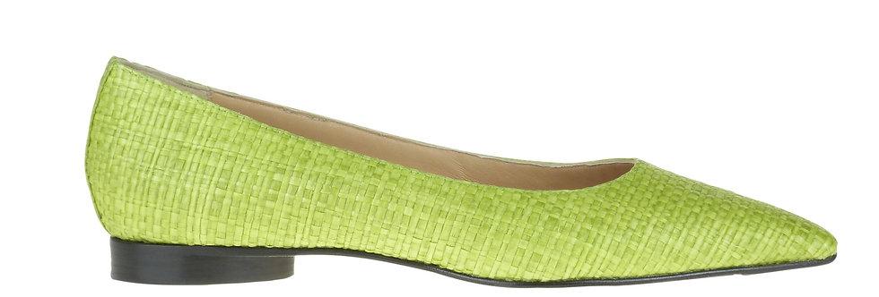 Betty lime green raffia