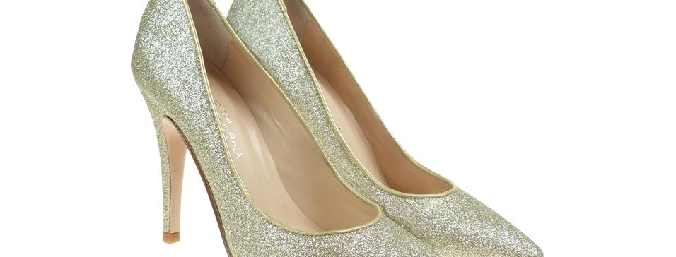 Rita gold glitter fino
