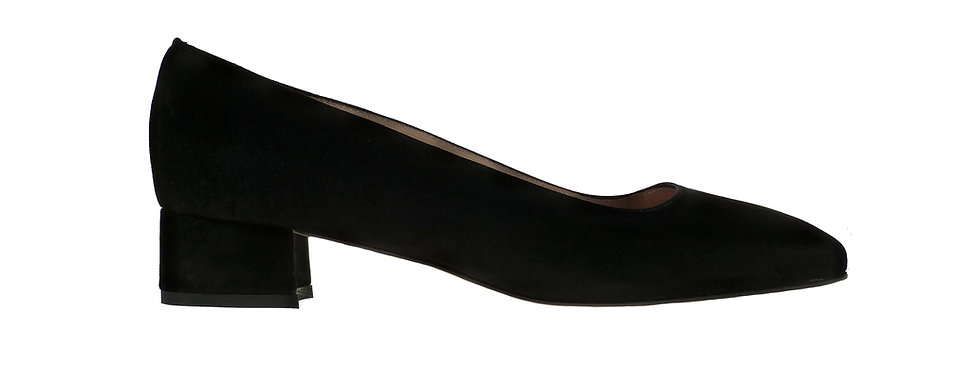 Lucy black suede
