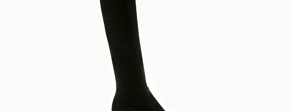 Zoe black stretch suede