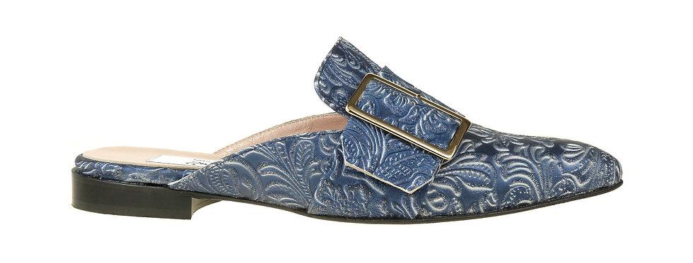 CARLA Blu Leather