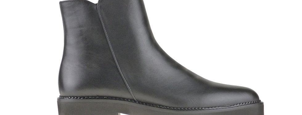 Penny black leather