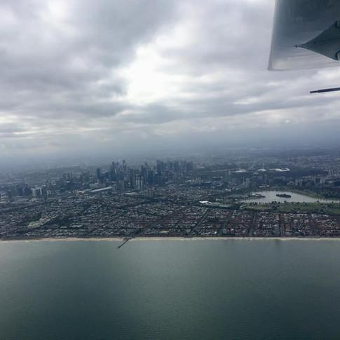 Melbourne City Skyline - Navigation Flight - Colac Aero Club