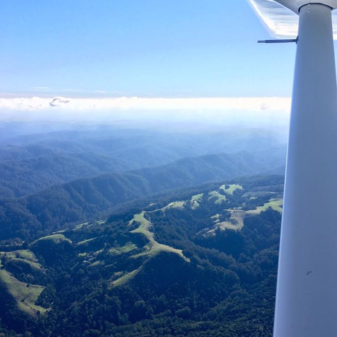 Mountains - Wing View
