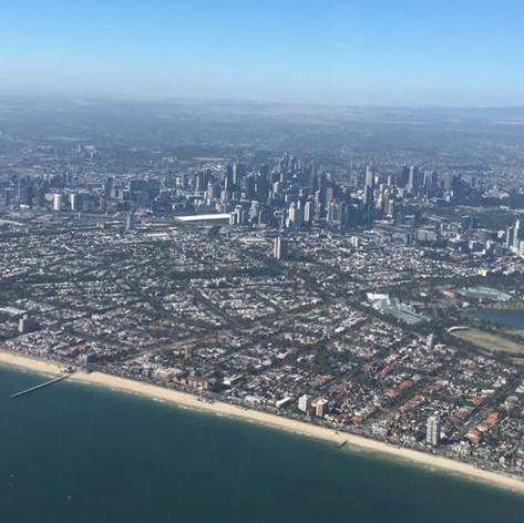 Melbourne City Skyline - Colac Aero Club - Flight