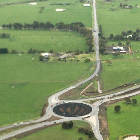 Roundabout Construction - Princes Highway - Colac