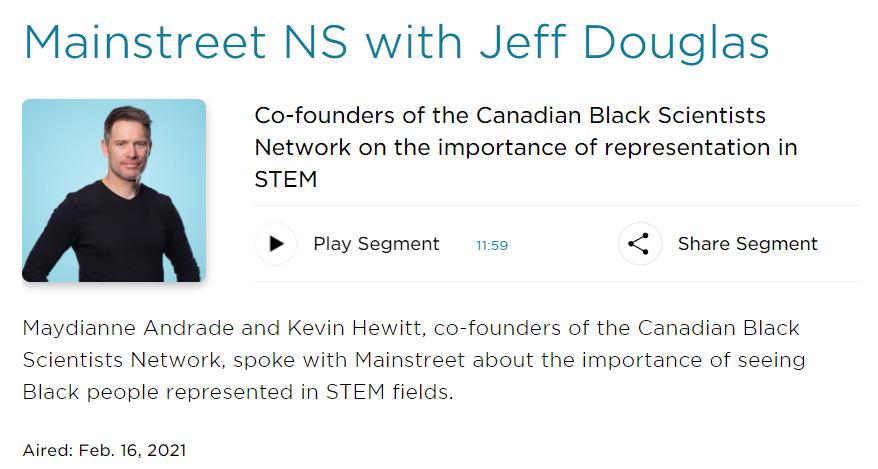 CBC Radio: Mainstreet NS