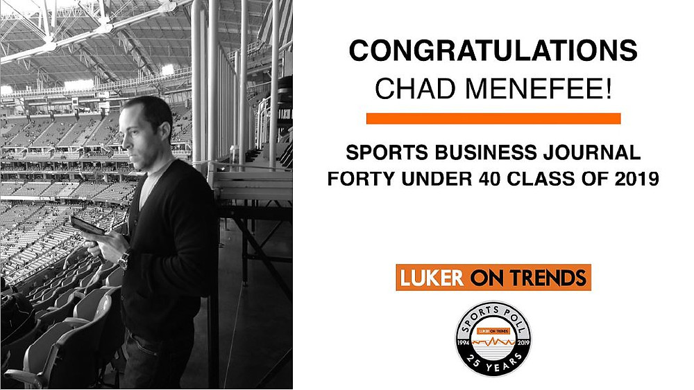 Chad Menefee selected for Sports Business Journal Forty Under 40