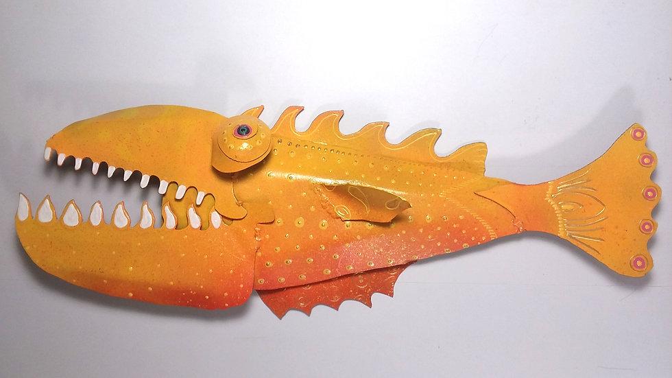 Bright Yellow and Orange Fish